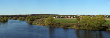 River Valley Royaltyfri Foto