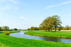 River valley of the Aller. In spring Stock Photos