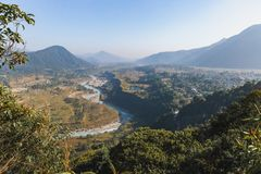 River Valley by Ancient Town. royalty free stock photos