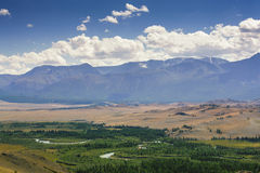 River Valley Chuia, Altai Mountains Royalty Free Stock Photography