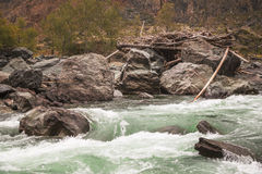 River Valley Chulyshman, Altai Royalty Free Stock Photos