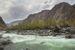 River Valley Chulyshman, Altai Stock Photo