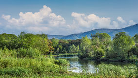 River valley in the countryside Royalty Free Stock Photography