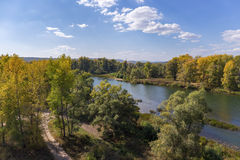 River valley in the countryside in autumn Stock Photography