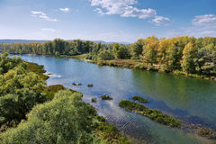 River valley in countryside, top view Royalty Free Stock Photography