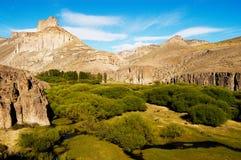 River Valley dans le patagonia Photos stock