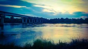 River Valley flodbro 2 Arkivfoto