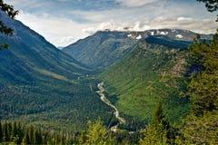 River Valley at Glacier Nat Park Stock Images