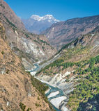River valley in Himalaya Stock Photos