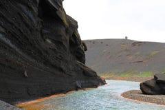 River Valley i Kerlingarfjoll arkivfoton