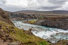 River in a valley in Iceland Royalty Free Stock Image