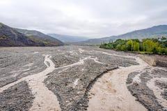 River valley in Lahich, Azerbaijan Stock Photo