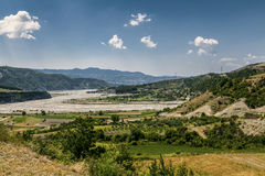 River Valley Landscape Albania Travel tip Stock Images