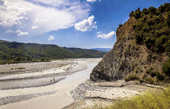 River Valley Landscape Distrct Gramsh Albania Stock Photography