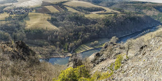 River valley landscape Royalty Free Stock Images