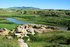 river valley mleka Fotografia Stock