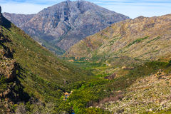 River valley. A mountain and river valley in the western cape, just outside Ceres, South Africa Stock Images