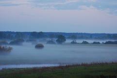 River Valley Nebel Lizenzfreie Stockfotografie