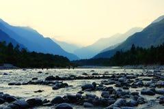 River Valley Schweiz Fotografering för Bildbyråer