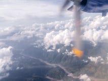 River Valley sköt från ett litet flygplan Arkivfoto