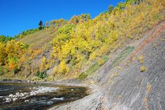 River valley slope Royalty Free Stock Photography