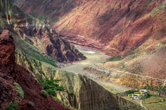 River valley in Yunnan Royalty Free Stock Images