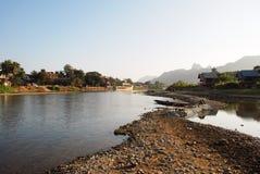 River in vang vieng Stock Photos