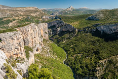 The river Verdon flows across the mountains in Haute Provence France Royalty Free Stock Image