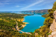 The river Verdon flows in the canyon Stock Photo