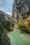 River Vero in Guara mountain range. Huesca Stock Photos