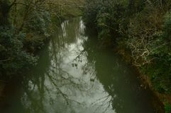 River Very Close To Butron Castle, Castle Built In The Middle Ages. River Nature Travel. Royalty Free Stock Photography