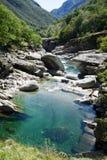 The river Verzasca at Lavertezzo on Verzasca valley Stock Photo