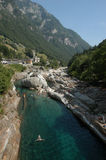 River at Verzasca valley Stock Photography