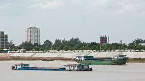 River vessels in Cambodia Royalty Free Stock Images