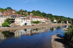 River Vezere. In the market town of Le Bugue, France Royalty Free Stock Photos
