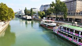 A river in Vienna Royalty Free Stock Photos