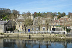 River View. View of a Typical European Town from a River Stock Image
