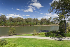 River view. River and park view in luxury Australian suburb Stock Images