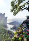 River View. Between mountains and hill from a top of a hill Royalty Free Stock Images