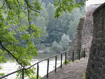 River view. Cozia monastery, near the Olt reaver Royalty Free Stock Photography