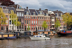 River View of Amsterdam Royalty Free Stock Photography