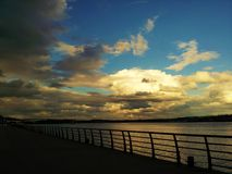 River. View of the river and beautiful sky Royalty Free Stock Images