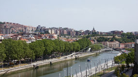 River view in Bilbao Royalty Free Stock Photos
