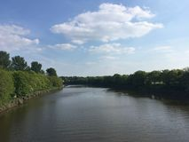 River View from Bridge royalty free stock photography