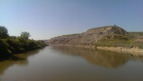River view in Drumheller Royalty Free Stock Image