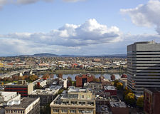 River View East Downtown Portland OR stock image