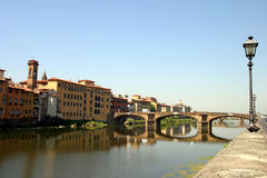 River view in Florence Royalty Free Stock Images