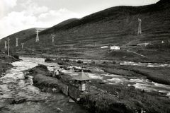 River view of Kangding Stock Photos