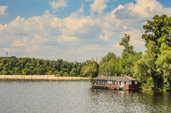 River. View of Kiev from the Dnieper Royalty Free Stock Photos