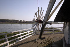 River view from landing windmill Stock Photo